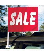Clip On Car Window Flags: Economy SALE dark red