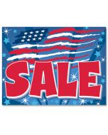 """""""Sale"""" (Abstract Us Flag) Curb Signs"""