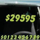 """6.5"""" Green & Black die cut windshield numbers kit"""
