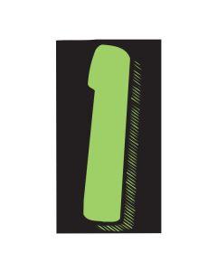 "VINYL PRICERS: #1 GREEN / BLACK 11.5"""