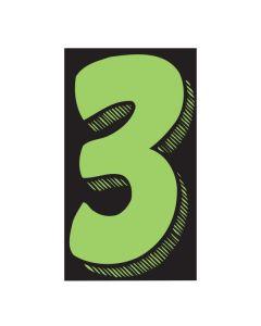 "VINYL PRICERS: #3 GREEN / BLACK 11.5"""