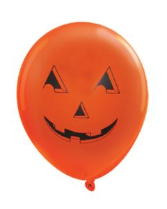 Balloons: 17 inch Jumbo imprinted jack-o-lantern
