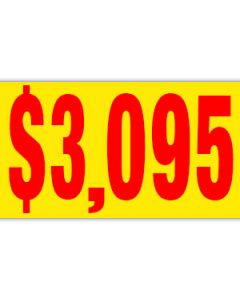 Pricer Windshield Banners:  $3095