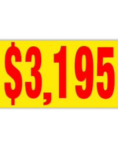 Pricer Windshield Banners:  $3195