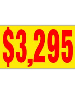 Pricer Windshield Banners: $3295