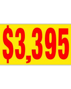 Pricer Windshield Banners:  $3395