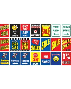Outdoor Message Sign Insert styles slogans colors