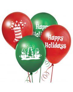 Balloons: 17 inch Jumbo imprinted Happy Holidays
