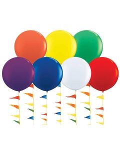 Giant 5 1/2 Foot Balloons colors