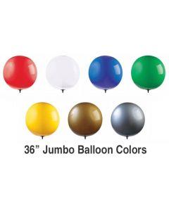 "Jumbo 36"" Reusable Balloon colors"