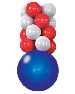 Perma-Shine Ceiling Column Kit red white and blue