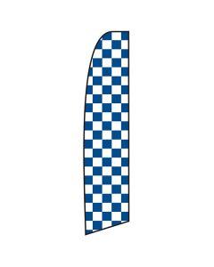 Blue & White Checkered Swooper Flag