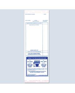 Blue Addendum Stickers 100 Per Pack