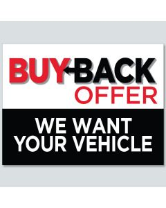 """""""Buy Back Offer"""" Curb Signs"""
