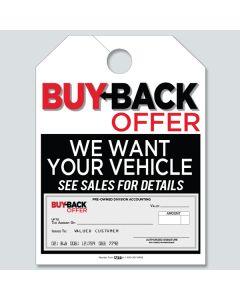 Buy Back Offer Hang Tag