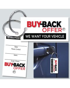 Buy Back Offer Key Tag Black and Red