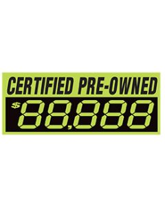 Changeable Digit Decals: Certified Pre Owned