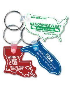 Custom Full Color Soft Vinyl Key Fobs: States