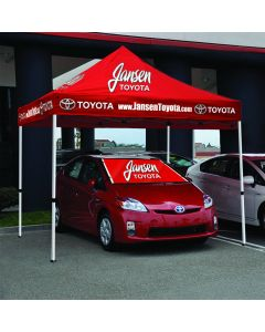 Full Color Digital Custom Tent 10' x 10' over a vehicle at an auto dealership event