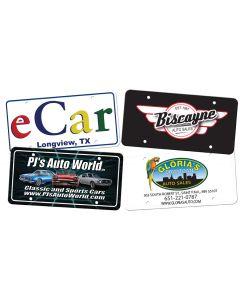 Full Color Plastic License Plates .020 Gauge sample