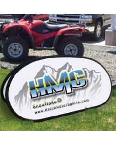 Custom Pop-Up Banners in front an auto dealership