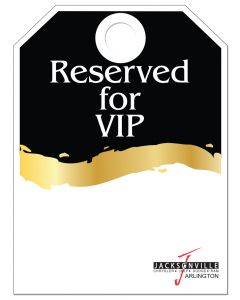 Full Color Custom Hang Tag Reserved for VIP black and gold