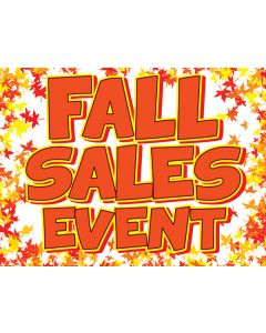 Curb Signs: Fall Sales Event