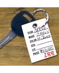 E-Z Find Key Tags on auto key ring