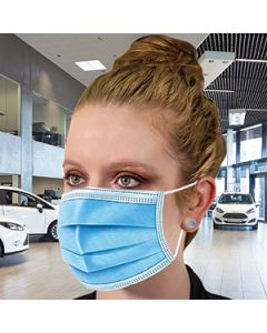 Disposable Face Mask on Auto Dealer