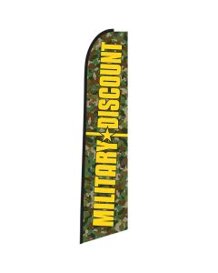 MILITARY DISCOUNT Green Camo Swooper Flag