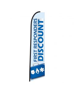 First Responders Discount Swooper Flag