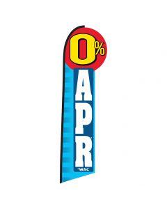 0% APR Die-Cut Swooper Flag