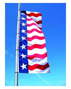 Uncle Sam Message Flags: 3X8 No Message No Sleeve on pole over an auto dealership