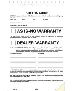 Standard Federal Buyers Guide: No Tape 2-part form