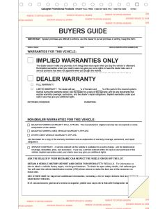 Buyers Guides Implied Warranty 2-part