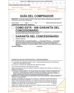 Buyers Guide: Spanish 2-part form