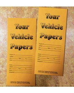 Your Vehicle Papers Envelope black on kraft