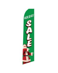 HOLIDAY SALE Swooper Flag with Santa