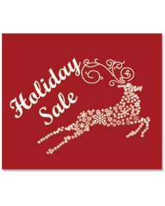 Clip-on Car Window Flags: Holiday Holiday Sale Reindeer red E