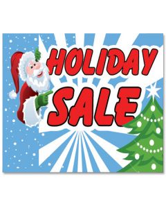 Clip-on Car Window Flags: Holiday Holiday Sale Santa Tree blue red G