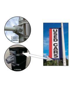 Crossbar Bracket Kit on a pole at an auto dealership
