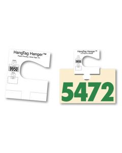 Hang Tag Hanger holding a Service tag Number