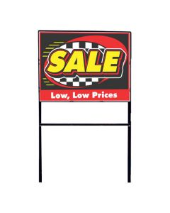 Deluxe Curb Sign Holder holding sale curb sign