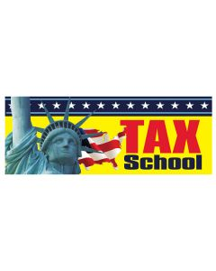 Tax School yellow liberty Banners
