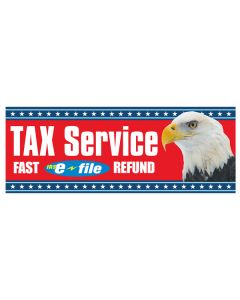 Tax Service efile Fast Refund Red Eagle Banners