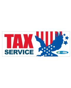 Tax Service efile patriotic eagle Banners