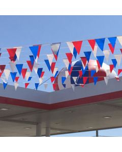 Red White and Blue Lightweight Pennant String