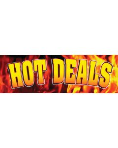 Stock Vinyl Banners yellow hot deals on flame background