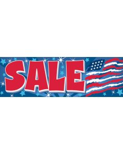 """Stock Banners: """"SALE"""" (Abstract US Flag)"""