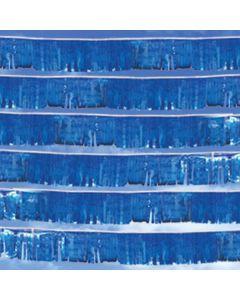 Metallic Streamers over auto dealership blue